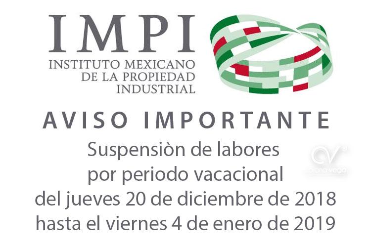 Marca Calendario.Calendario Del Periodo Vacacional Del Impi Abogados De Marcas En